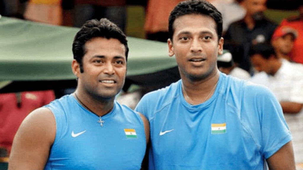 Leander Paes and Mahesh Bhupathi - Finished 4th at Athens Olympics 2004
