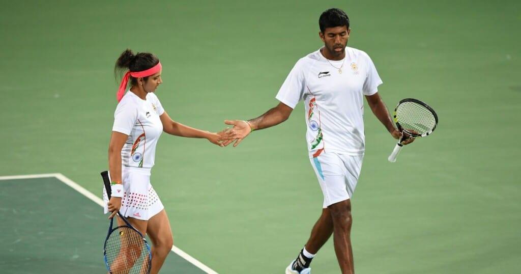 Sania Mirza and Rohan Bopanna - Finished 4th at Rio Olympics 2016