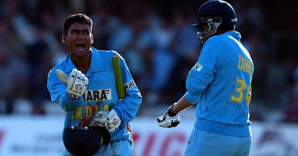 Mohammad Kaif (L) and Zaheer Khan celebrate India's win against England in the 2002 Natwest Trophy final at Lord's | Reuters