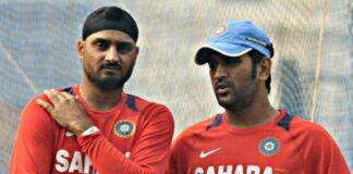 Harbhajan Singh and MS Dhoni