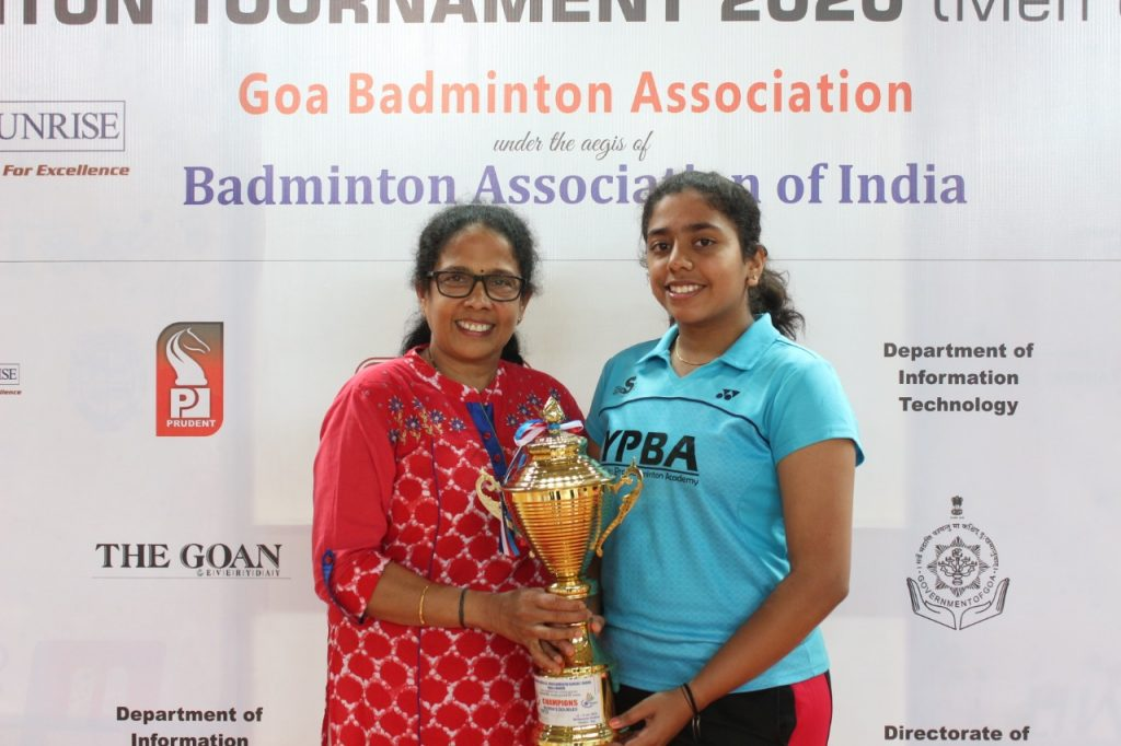 Ashwini Bhat with her mother