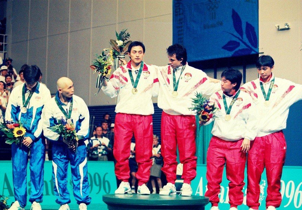 Mens doubles winners, Badminton, ATlanta Olympics 1996