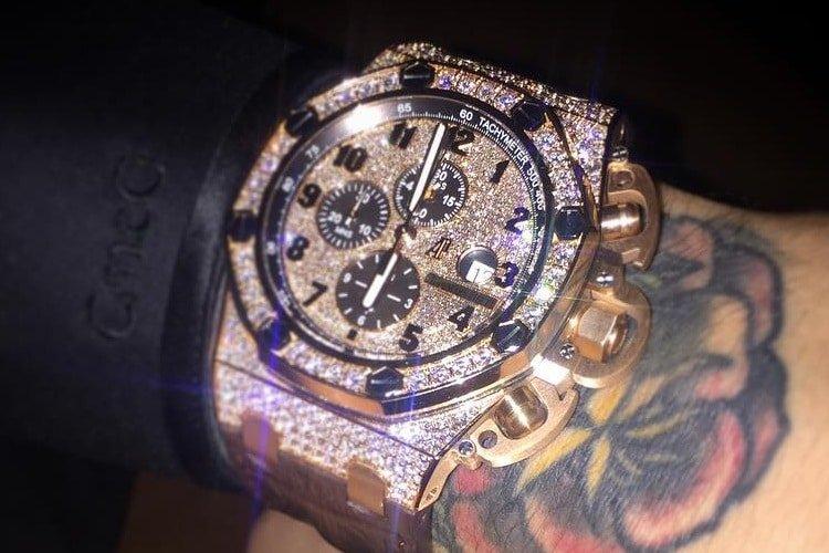 Conor McGregor Watch Collection Audemars Piguet Offshore Chrono Custom Diamond Encrusted 1 - FirstSportz