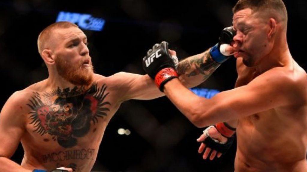 Nate Diaz vs Conor McGregor 1 - FirstSportz