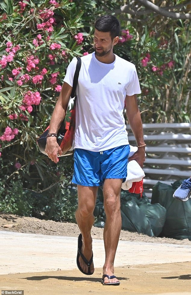 Novak without mask - FirstSportz