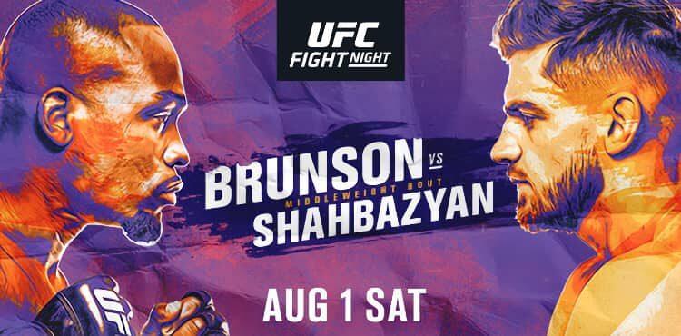 UFC Brunson vs Shahbazyan fight poster 750x370 1 - FirstSportz