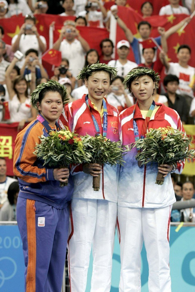 Women's singles medalists in badminton at Athens