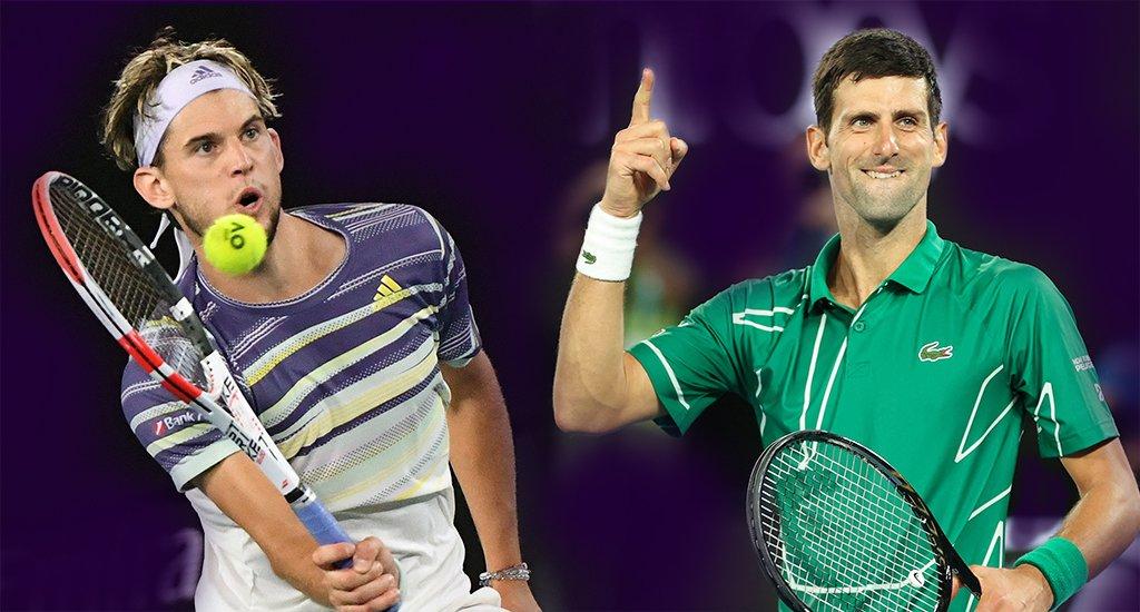 Novak Djokovic and Dominic Thiem Australian Open preview 1 - FirstSportz