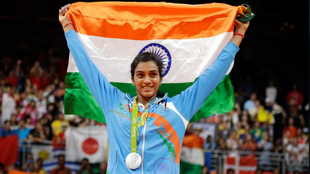 Pv Sindhu with her Rio Olympic Silver