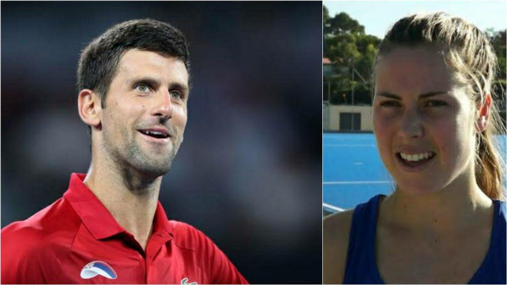 Rose Keddell With Novak - FirstSportz