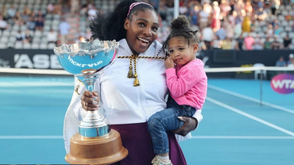 Serena Williams with Olympia - FirstSportz
