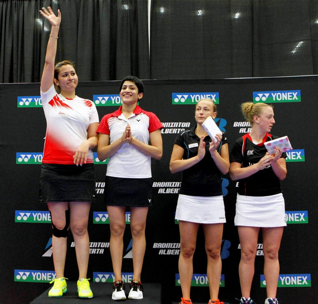Jwala Gutta and Ashwini Ponnapa winners Canada Open 2015