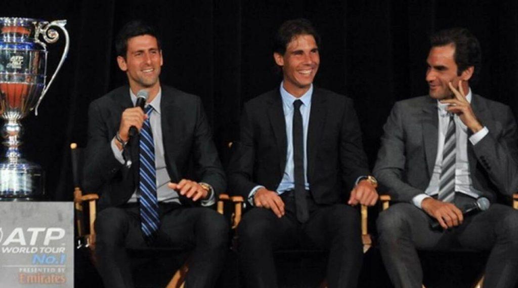THE BIG 3 : Novak Djokovic, Rafael Nadal and Roger Federer