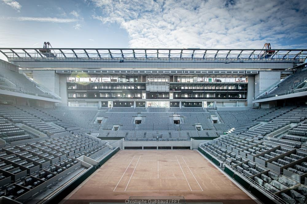 Empty courts at French Open - FirstSportz