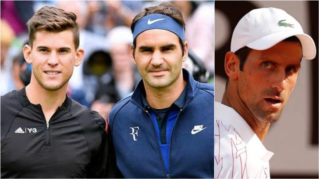 Roger Federer Dominic Thiem Novak Djokovic - FirstSportz