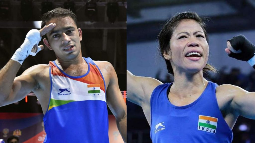 Amit Panghal and Mary Kom