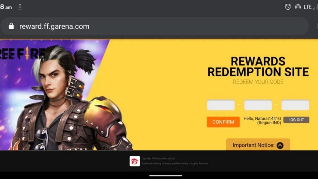 Garena Free Fire: How to Redeem Rewards through Redeem ...