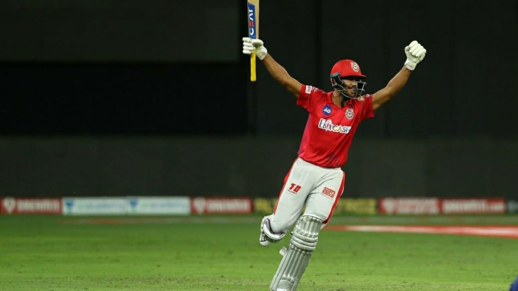 Mayank then completing his dues with the bat