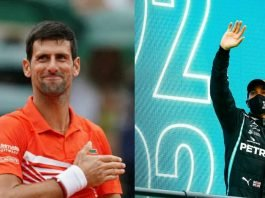 Novak Djokovic, Lewis Hamilton