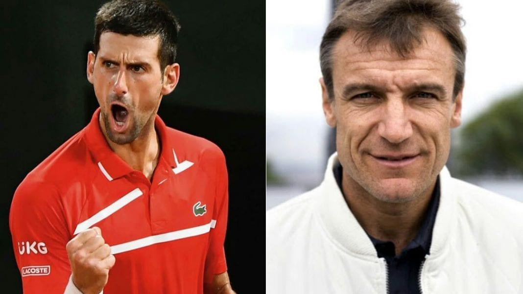 Novak Djokovic and Mats Wilander