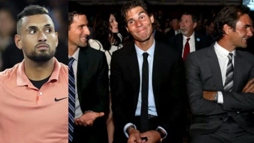 Nick Kyrgios, Rafael Nadal, Roger Federer and Novak Djokovic