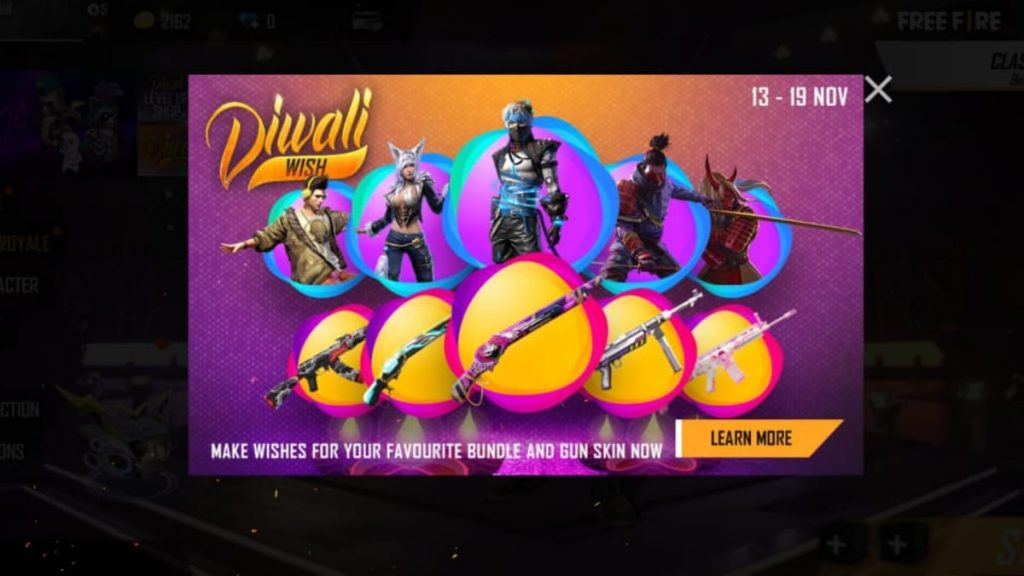 Garena Free Fire New Diwali Wish Event And All You Need To Know About Firstsportz