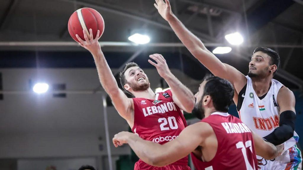 India vs Lebanon during FIBA Asia Cup 2021 qualifiers