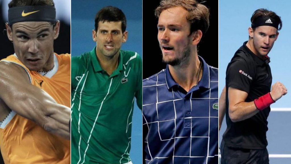 Rafael Nadal Novak Djokovic Daniil Medvedev Dominic Thiem - FirstSportz
