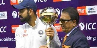Sunil Gavaskar and team India skipper Virat Kohli
