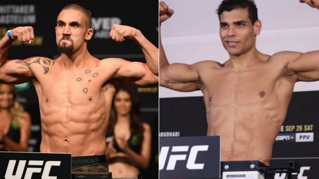 """Paulo Costa confirms fight with Robert Whittaker """"very close"""" to being booked » FirstSportz"""