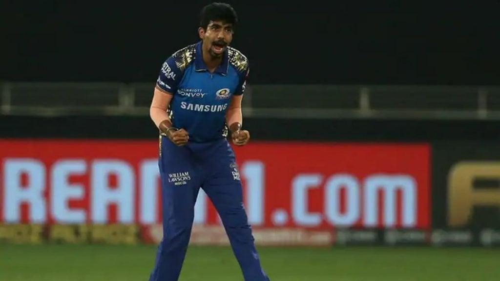 Jasprit Bumrah pumped up after a wicket