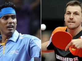 Sharath Kamal and Timo Boll
