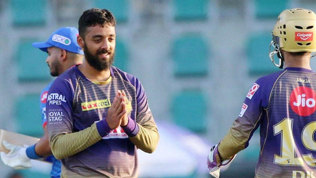 Varun Chakravarthy celebrates his fifer