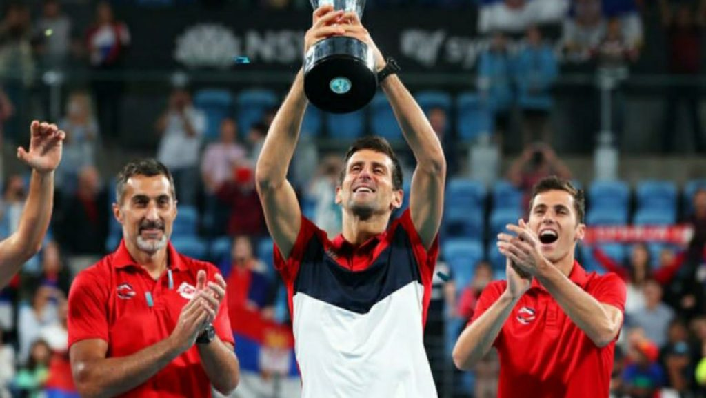 Djokovic at ATP Cup - FirstSportz