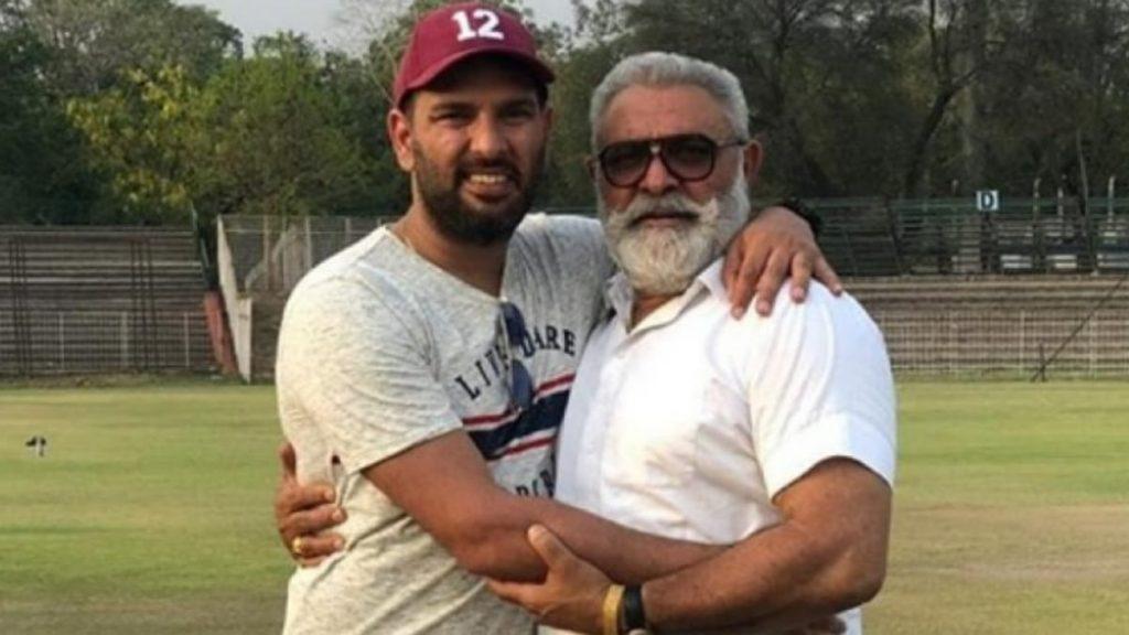 Yuvraj Singh with father Yograj Singh