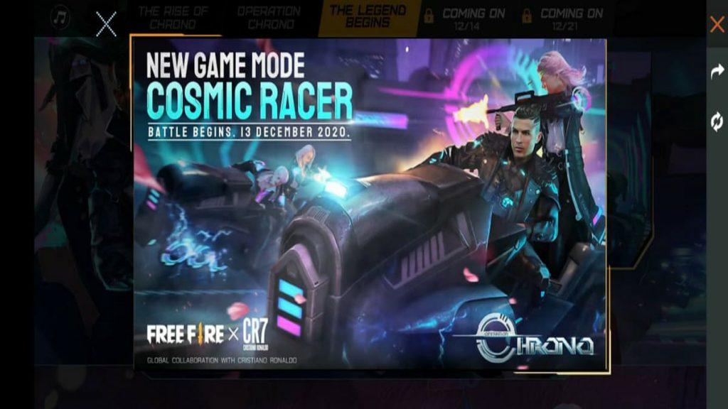Cosmic Racer event re-released