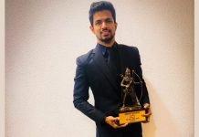 Varun Singh Bhati with the Laxman award