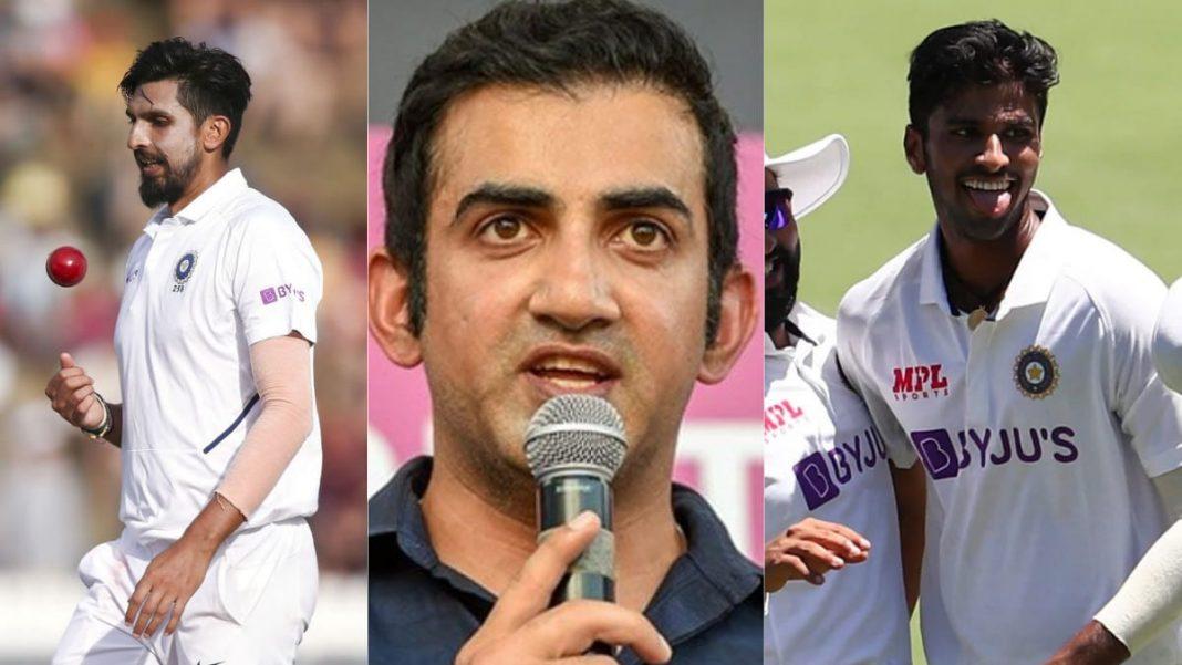 Ishant Sharma, Gautam Gambhir and Washinton Sundar