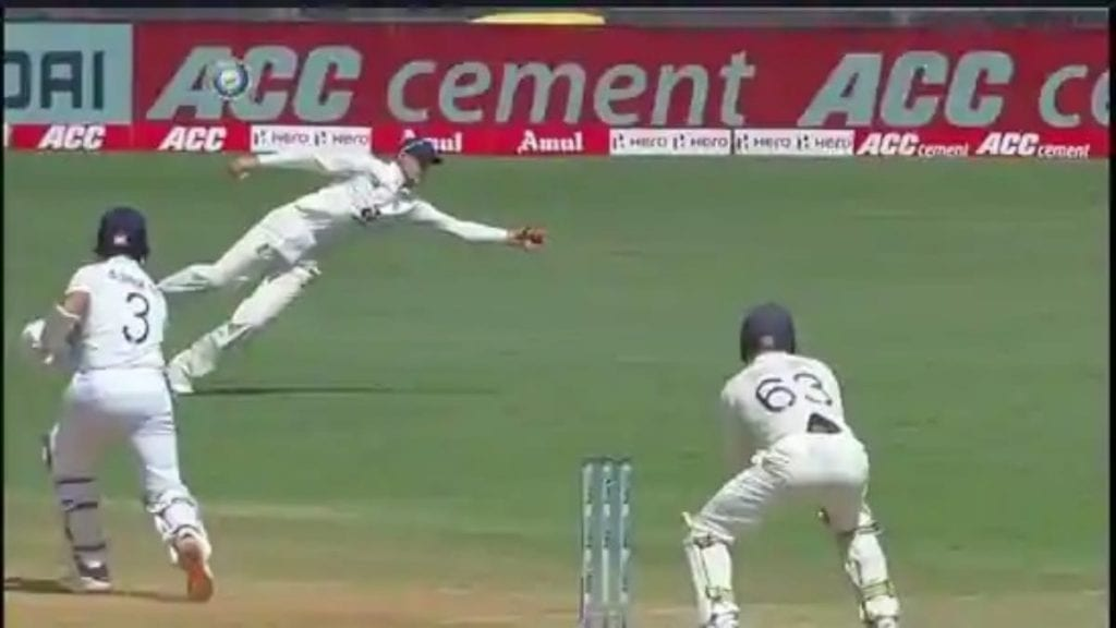 Joe Root catch at covers