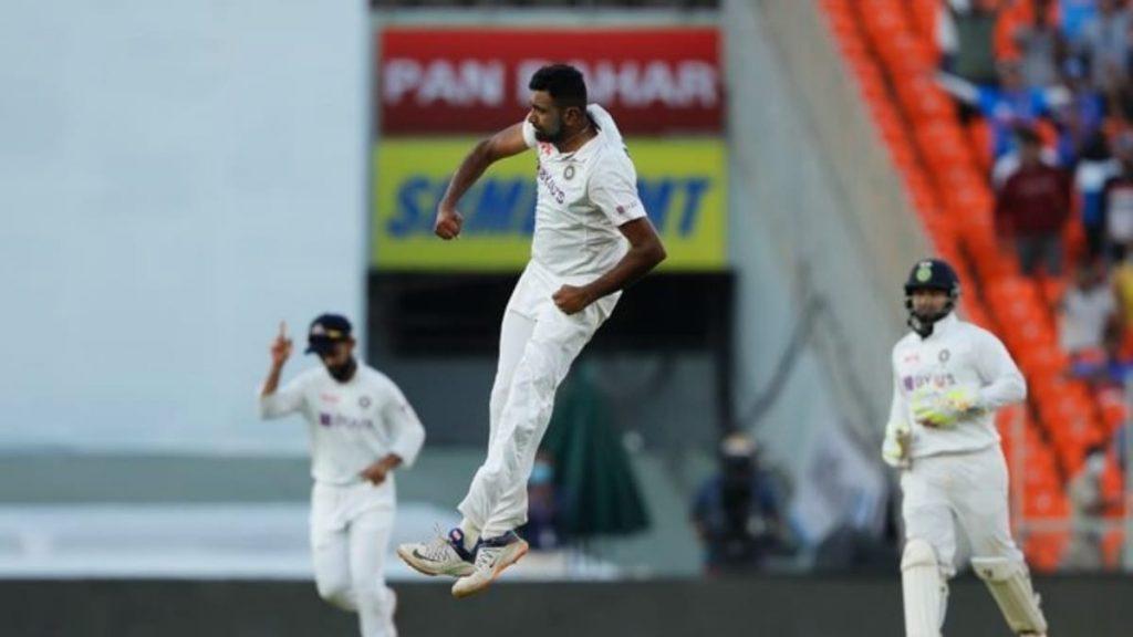 Ravichandran Ashwin celebrates his 400th Test wicket (Photo - BCCI)