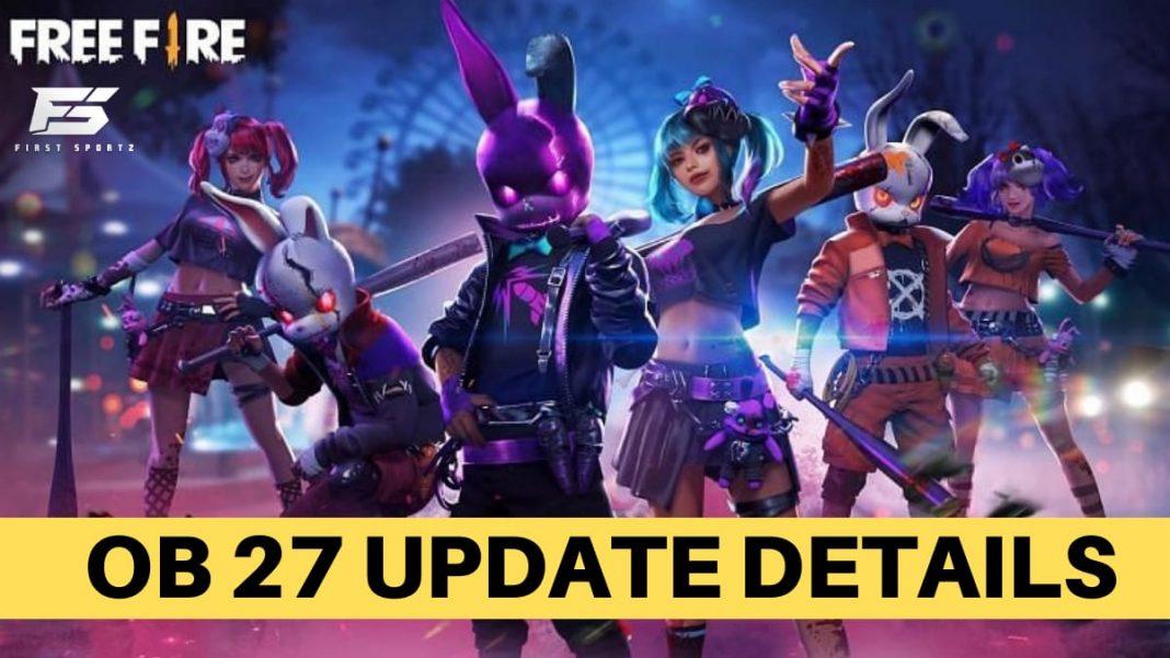 Free Fire OB27 Update Release Date