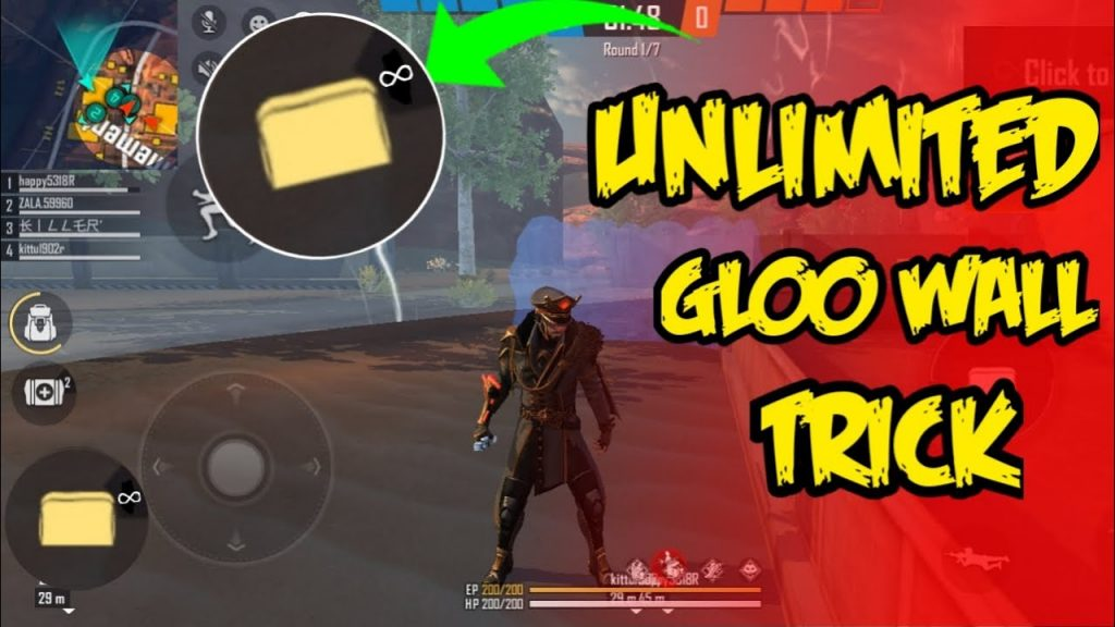Unlimited Gloo Wall In Free Fire