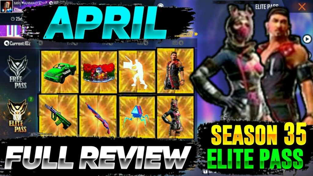 Free Fire Elite Pass Season 35