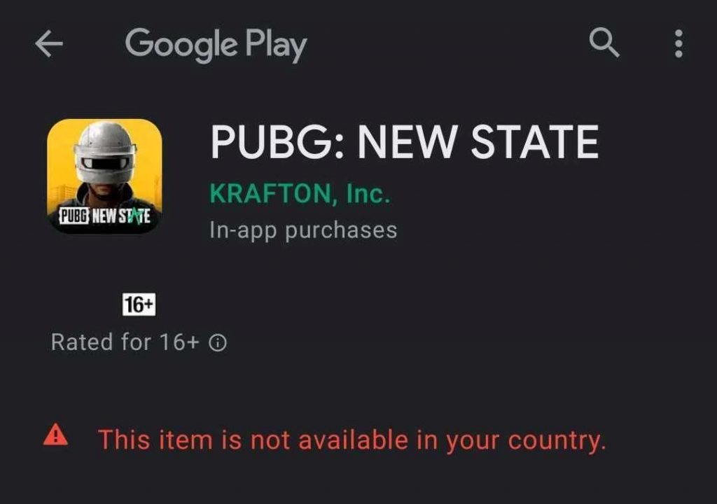 pubg new state google play store - FirstSportz