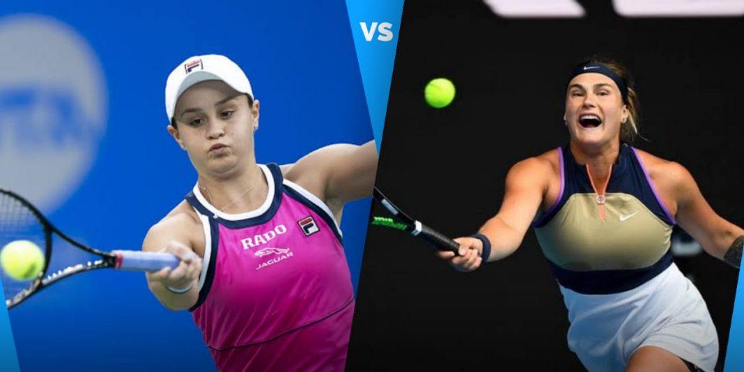 Ashleigh Barty vs Aryna Sabalenka
