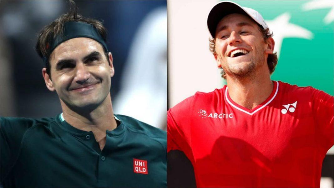 Casper Ruud and Roger Federer