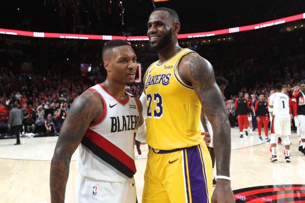 Damian Lillard and LeBron James - FirstSportz