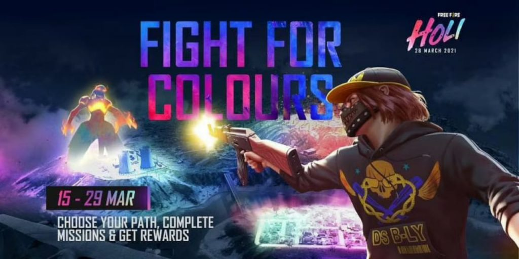 Unleash your true colours in Free Fire this Holi