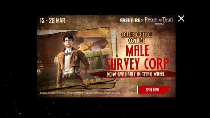 Free Fire Male Survey Corp bundle
