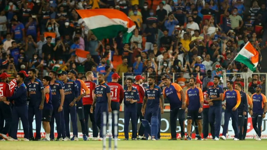 Indian Cricket Team and England Cirket Team